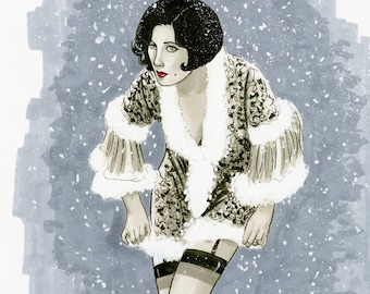 Joan Crawford Original Illustration