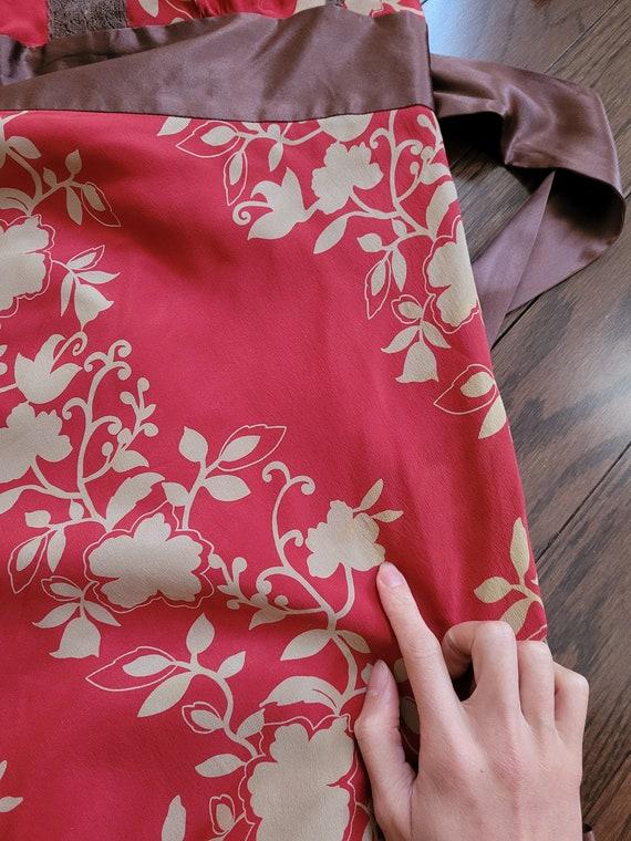 Silk chiffon dress, size 10 - image 10