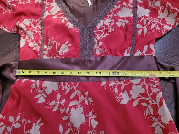 Silk chiffon dress, size 10 - image 5