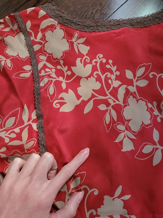 Silk chiffon dress, size 10 - image 8