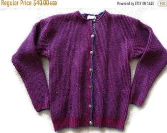 7c07a3de41 SALE Woolrich Purple Cardigan Sweater Women s XL (fits medium)
