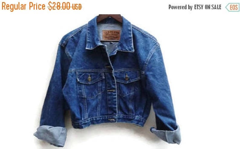7b2a2a0912b SALE Paris Blues Jean Jacket Denim Vintage M