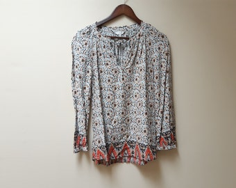 bohemian floral blouse / lucky brand