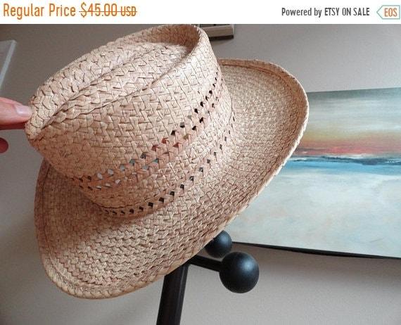 5e1122f1d74 SALE Genuine Mexican Palm Hat Vintage straw hat Size 7