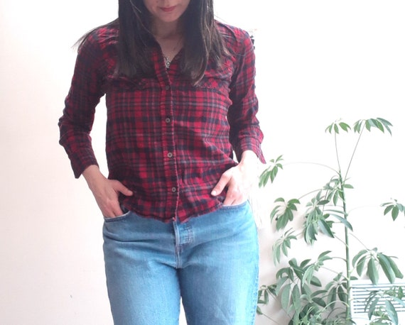 Red Flannel Plaid Shirt | Cotton | Beaver Canoe |