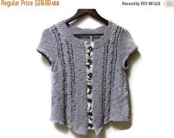 SALE Knit Cardigan - Lavender - Free People - Size Medium M