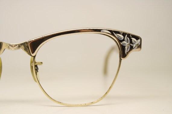 661237cfd8f Vintage Artcraft Cat Eye Glasses 1 10 12k Gold filled vintage