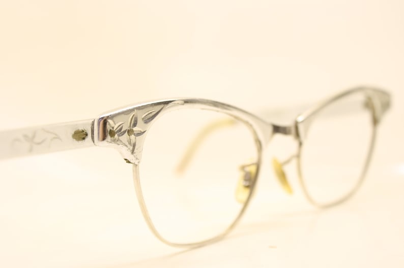 d7e56d41081 Small Cat Eye Glasses Vintage Art Craft 1 10 12k Gold filled