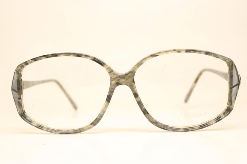 Unused Gray Blue Vintage Eyeglasses Haute Couture Retro New Old Stock Classic Eyeglasses NOS