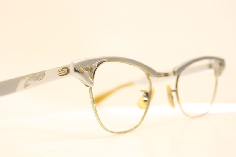 187cb56be74 Cat Eye Glasses Vintage Art Craft 1 10 12k Gold filled