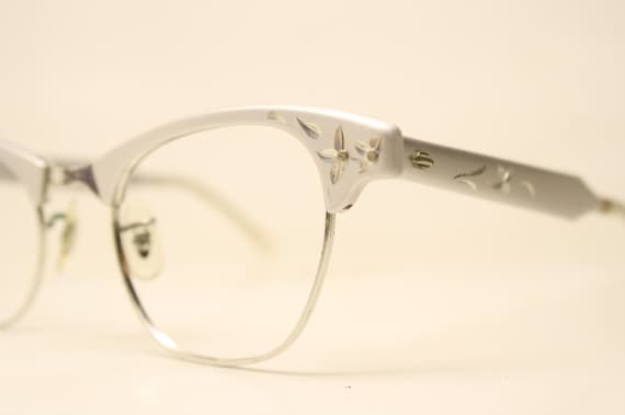 4b4ae14448d Artcraft Silver Cat Eye Glasses Vintage 1 10 12k Gold filled