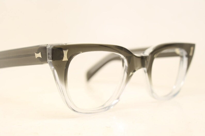 37b63edacd NOS Graysmoke Fade Vintage Eyeglasses 1960s Men Retro Glasses