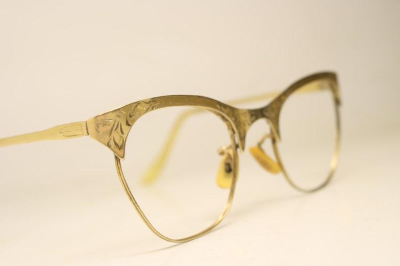 20e17dcd7d95 Vintage Cat Eye Glasses 1 10 12k Gold filled BSO vintage