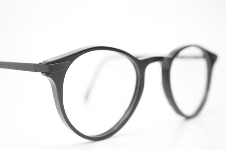 94873b0d80 Unique Vintage Black P3 Eyeglass Frames Retro Eyeglasses