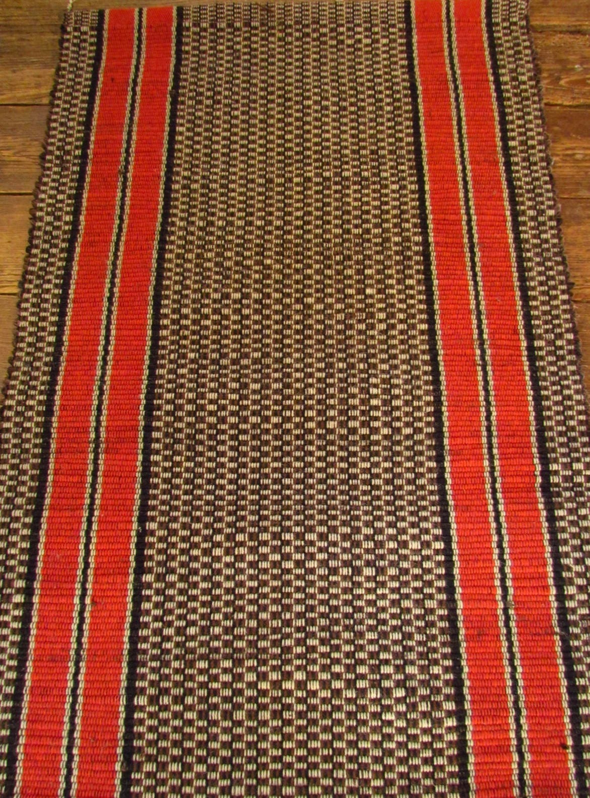 Handwoven Rag Rug Natural Fibers Recycled Clothes 18th Century Craft for 21st Century Floor