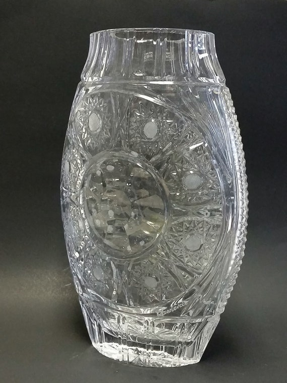 Vase Large Cut Crystal Zawiercie Crystal Glass Factory Ltd.