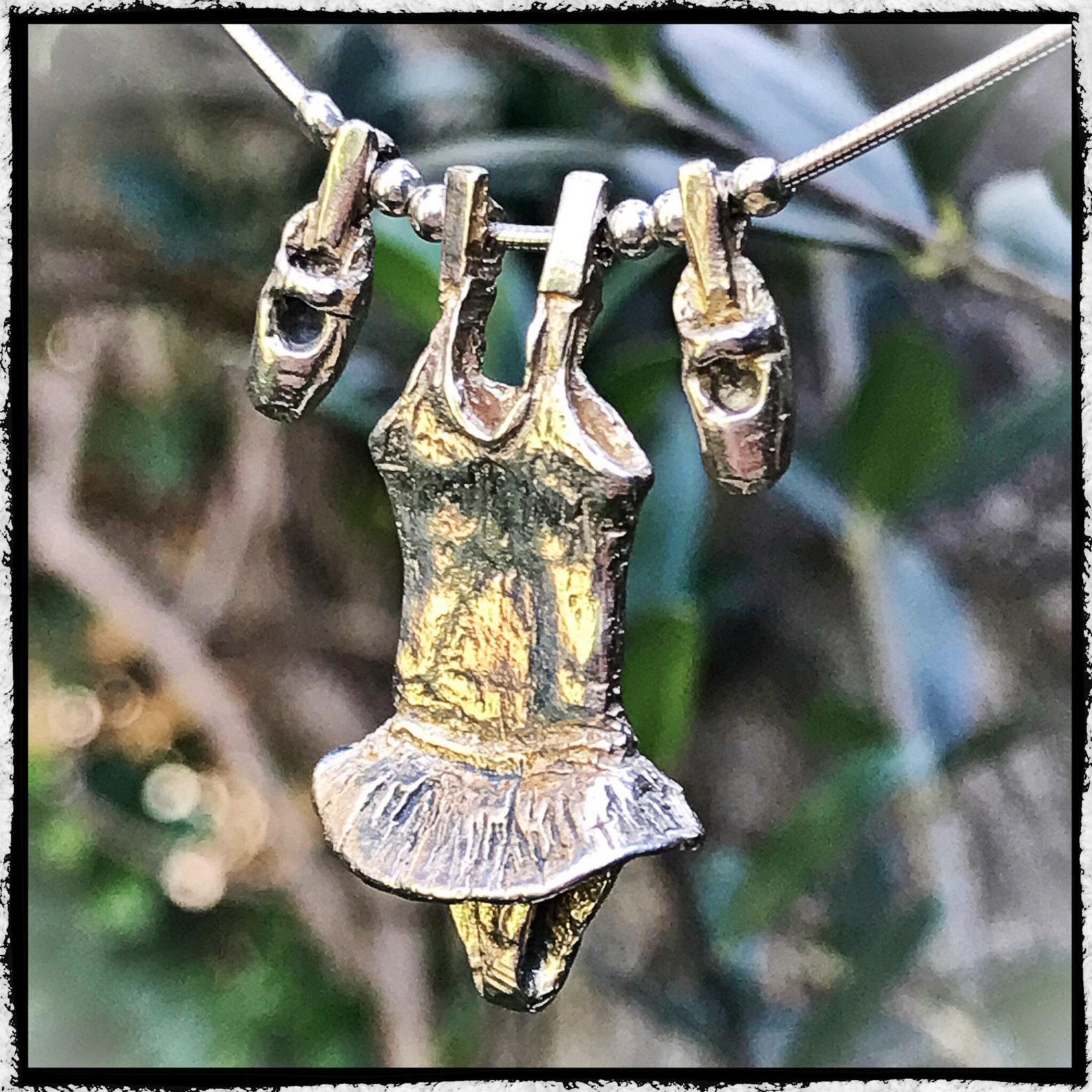 silver pendant dress ballerina ballet. necklace silver ballet ballerina clothing. silver ballerina clothes pendant. silver balle