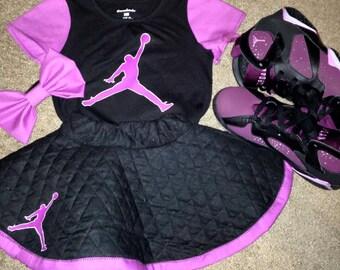Quilted skater skirt set