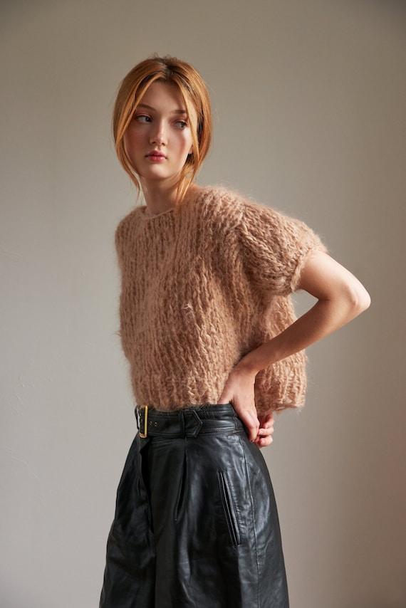 Tunic Mohair So Soft Moss Loopy Mango DIY Knit Kit