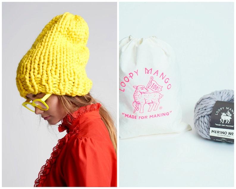 1f3b2e5919f Loopy Mango DIY Kit Slouchy Beanie Chunky Merino Wool