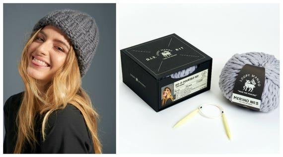 Loopy Mango DIY Box Kit Her Beanie Chunky Merino Wool  738c1e9f844