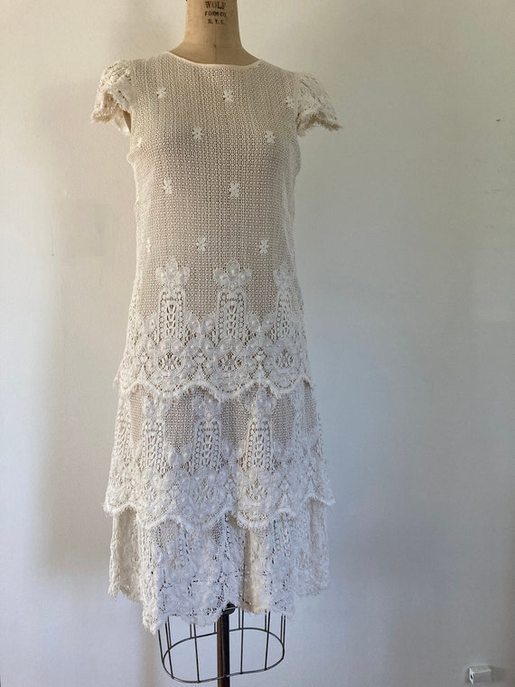 Vintage 30s-inspired cotton lace dress