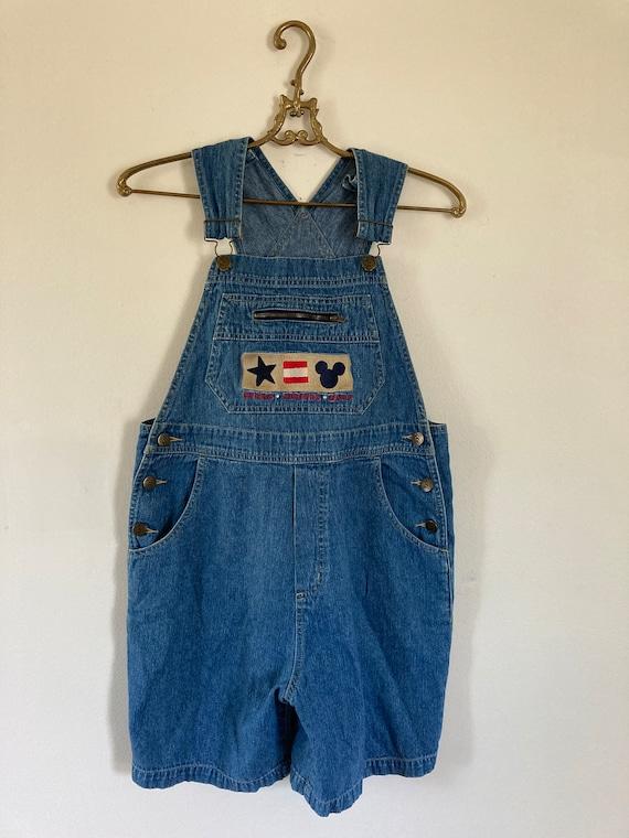 Vintage Disney short overalls