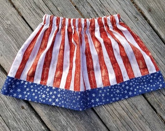 b97365f6c Girls American Flag Skirt / Stars and Stripes / Memorial Day Skirt / 4th of  July Skirt / Independence Day / Americana
