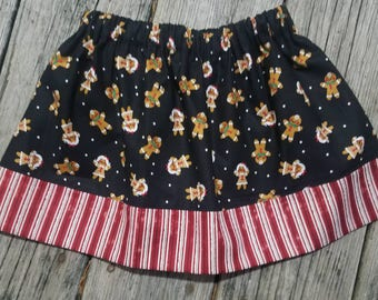 Girls Skirt / Gingerbread People / Gingerbread Cookies / Christmas Outfit / Holiday