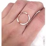 Open Circle Ring, Karma Ring, Gold Circle Ring, Minimal Stacking Ring, Minimal Geometric Ring, Big Circle Ring