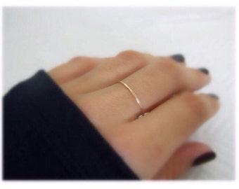 Wedding Band, Rose Gold Ring, Promise Ring, Simple Wedding Ring, Thin Band Ring, Anniversary Ring, Wedding Ring, 14K Gold Ring