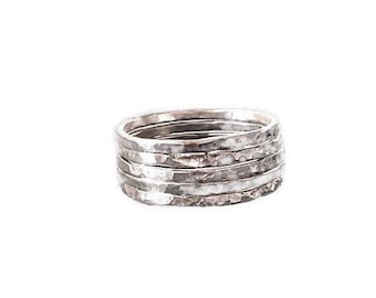Stackable Ring, Sterling Silver Ring, Stacked Ring, Silver Ring, Ring for Women, Oxidized Silver Ring, Sterling Silver Jewelry