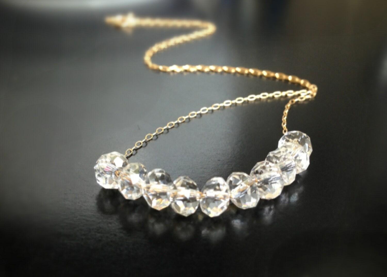dainty necklaces diamond necklace minimal necklace diamond. Black Bedroom Furniture Sets. Home Design Ideas