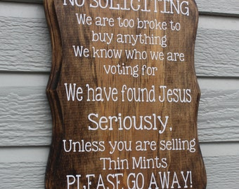 No Soliciting Sign (funny sign, thin mints, samoas)