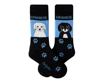 Havanese Foozys Canine Dog Crew Socks