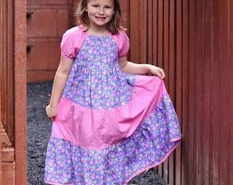 Twirly dress, Peasant princess dress, Girl's princess dress, Twirly dress, Ruffled dress, MADE TO ORDER,