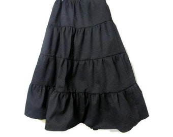 Girl's Black skirt - Black Skirt - Girls long skirt -  Girls skirt - Layered Black Skirt -Boutique Skirt - Girls Fashion - Kids Clothes