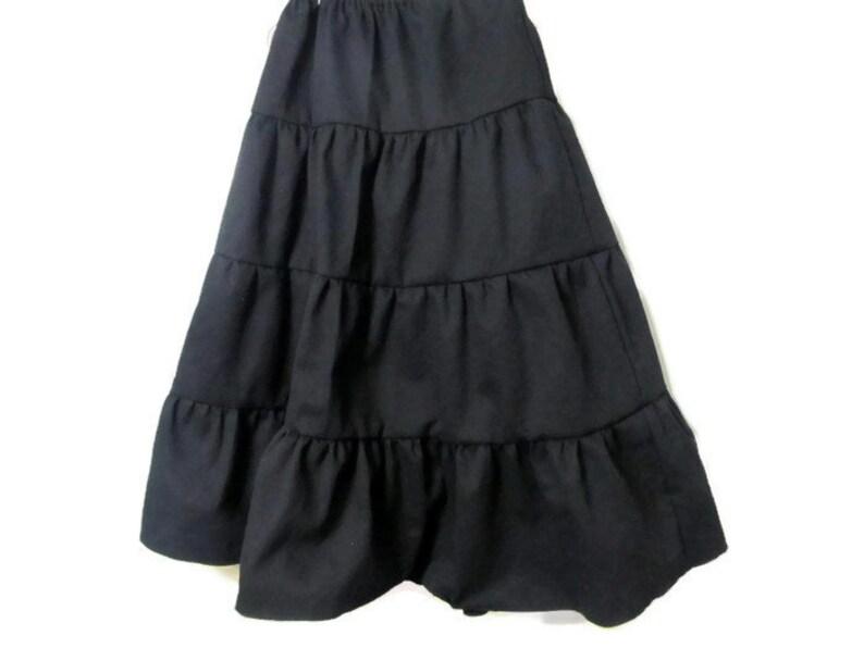 Girl's Black skirt  Black Skirt  Girls long skirt  image 1