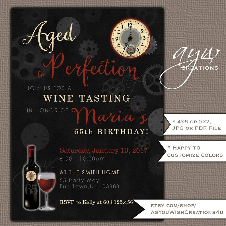 Aged To Perfection 50th Birthday Party Invitation For The Etsy