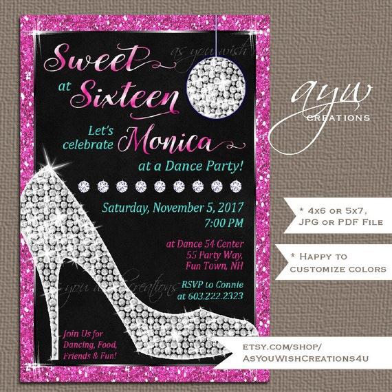 Sweet Sixteen Invitations 16 Birthday Party Invites High