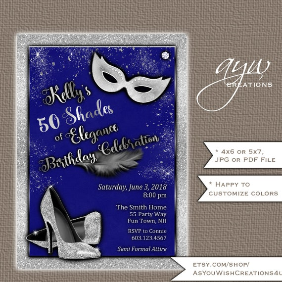 50th Birthday Party Invitation For A Woman