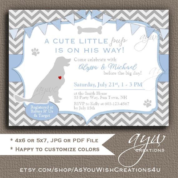 Golden retriever baby shower invitation boy puppy baby shower etsy image 0 filmwisefo