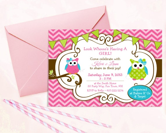 photo about Printable Owls titled Owl Youngster Shower Invitation Lady - Printable Owl Invitation