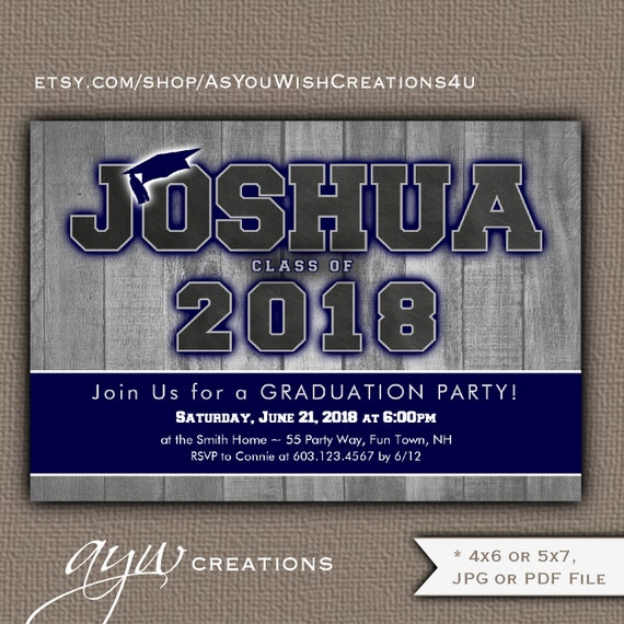 boy graduation party invitation boy graduation invitation barn board