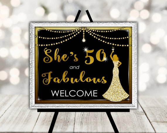 Welcome Sign For Womans Birthday Party 50th Birthday Party