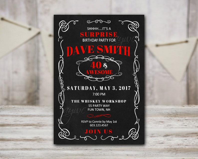40th Birthday Party Invitation For Mens With Cheers And Beers Wording Beer Mugs