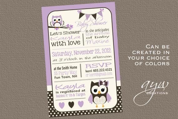 Owl baby shower invitation chevron unique owl baby shower owl etsy image 0 filmwisefo