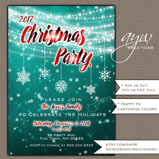 Rustic Christmas Party Invitation Wood Background Printable