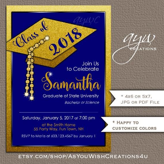 Graduation Party Invitation Graduation Cap Party Invitation Etsy
