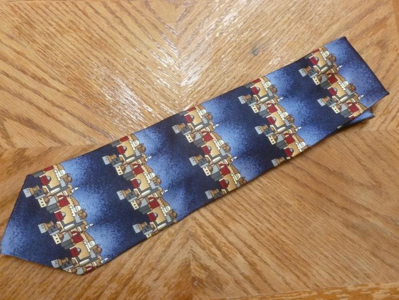 vintage Stonehenge necktie Architecture Eastern Europe
